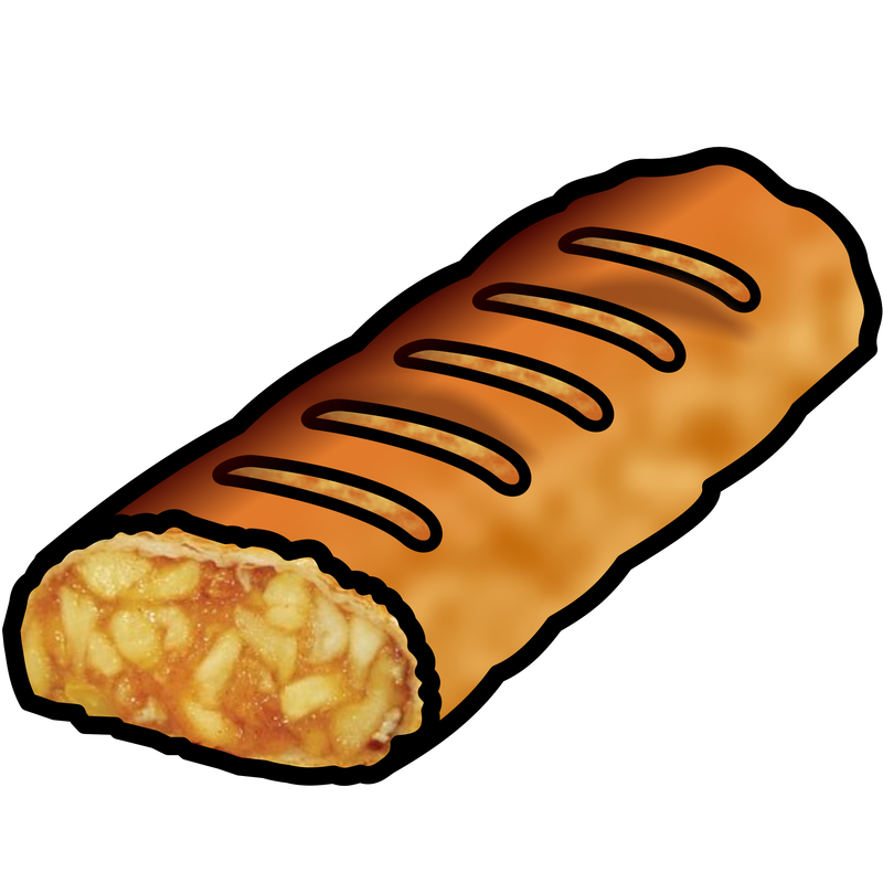Apple strudel clipart svg library library Symbol Food Apple - TalkSense svg library library