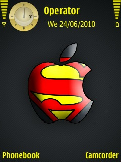 Apple superman clipart clip free Download free superman logo themes for your mobile phone - newest ... clip free