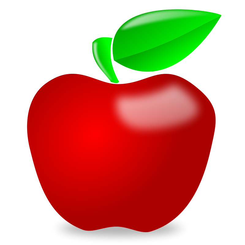 Free cute apple clipart