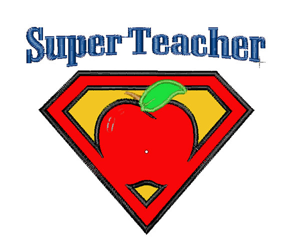 Apple superman clipart svg royalty free Super Teacher Clipart - Clipart Kid svg royalty free