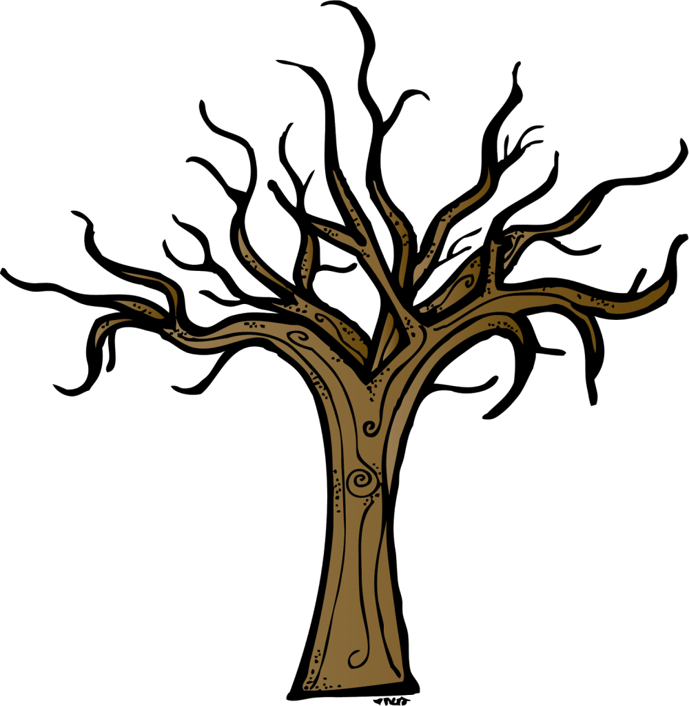 Half bare tree clipart banner freeuse library Bare Oak Tree Silhouette at GetDrawings.com | Free for personal use ... banner freeuse library
