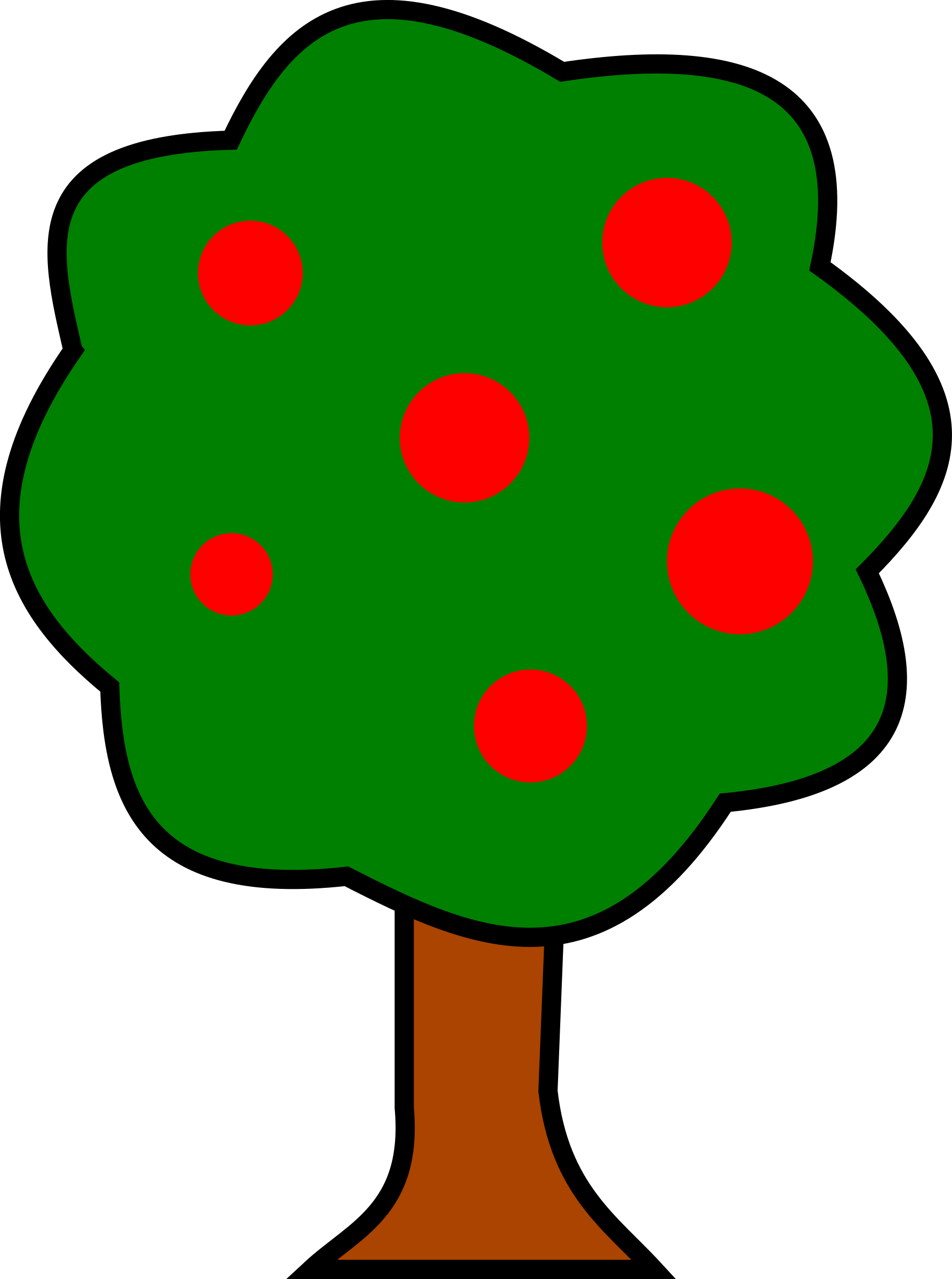 Tree with fruit clipart image freeuse download Mango Tree Clipart at GetDrawings.com | Free for personal use Mango ... image freeuse download