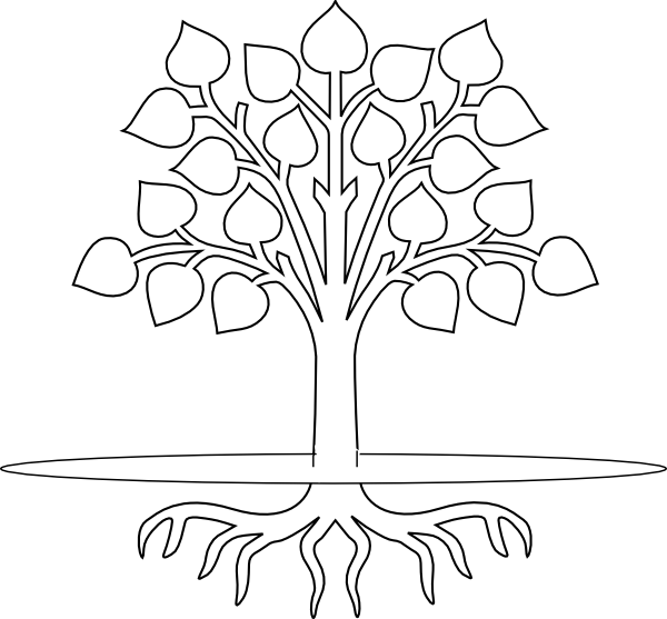 Black and white tree with roots clipart clip art royalty free download Clipart Apple Tree Black And White. Perfect Apple Tree Flowers And ... clip art royalty free download