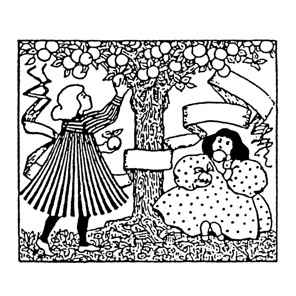 Apple tree black and white clipart clip stock Apple Tree Rubber Stamp Craft and Card Making Stamps - Stamps Direct clip stock