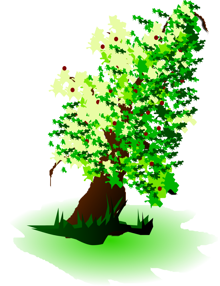 Apple tree branch clipart vector library library OnlineLabels Clip Art - Apple Tree Oil Painting vector library library