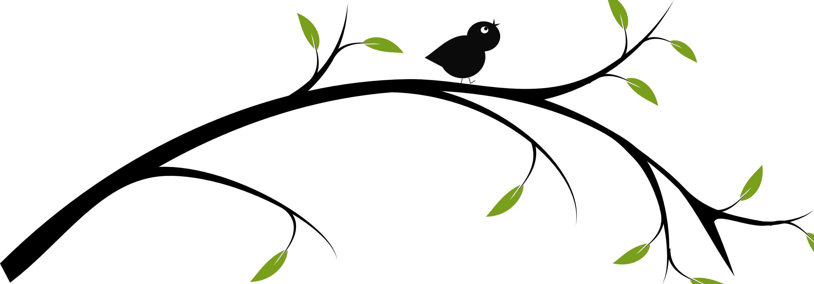 Clipart tree branch silhouette banner library download birds on a branch clip art | Simple Inkscape Tutorial… How to Draw a ... banner library download
