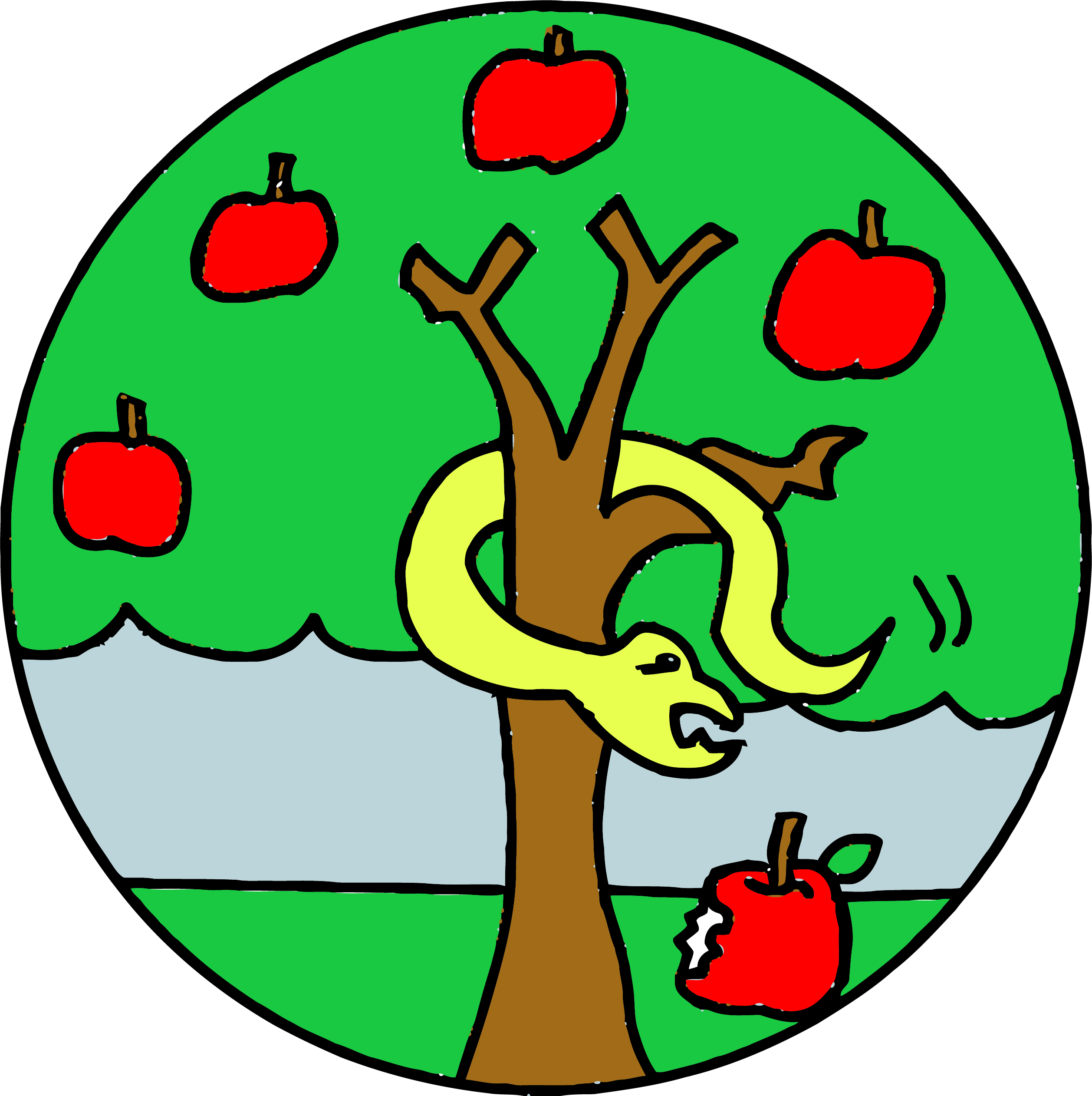 Apple tree clipart free clip stock Snake Apple Tree Clipart Png | Clipartly.com clip stock