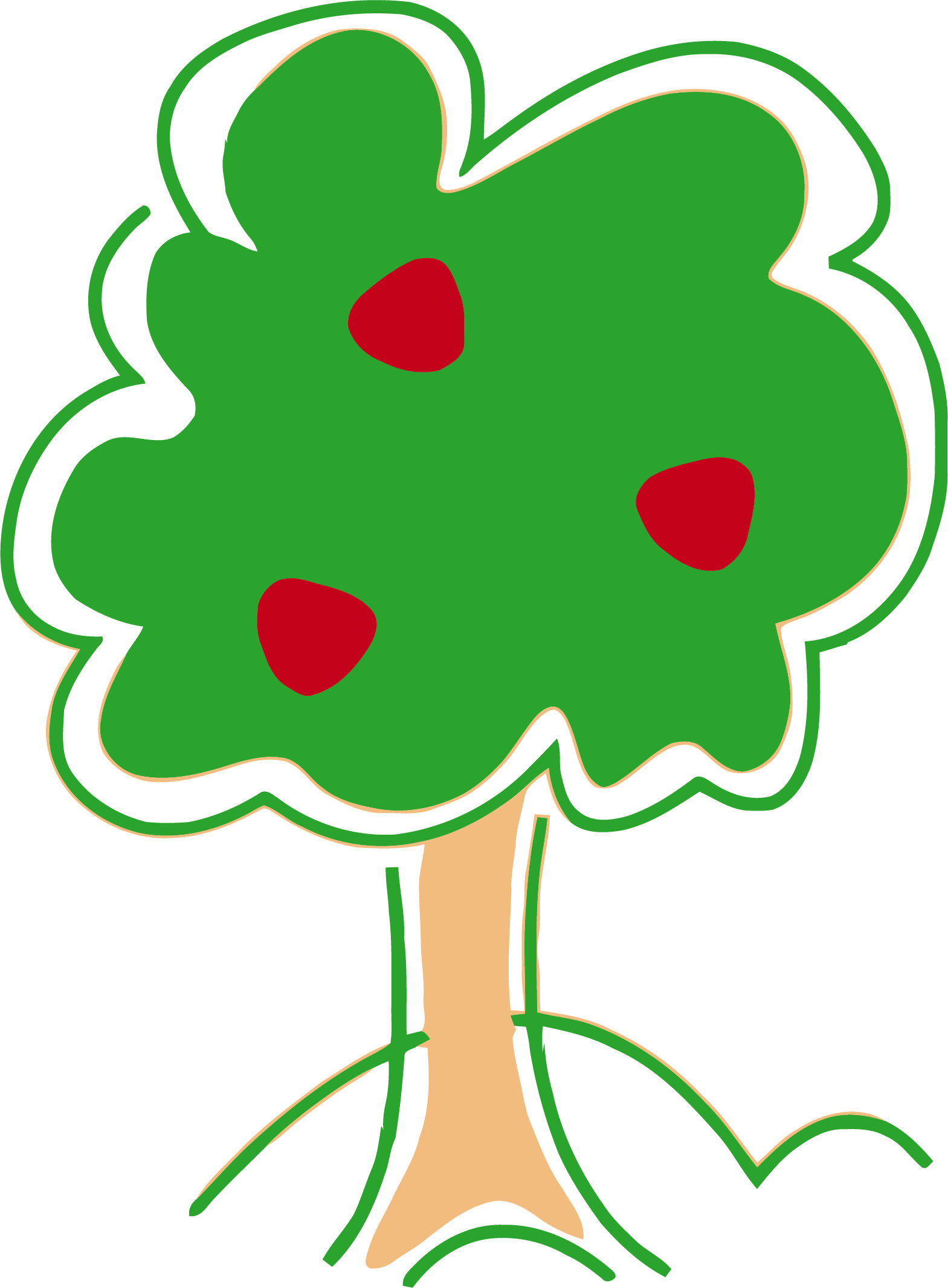 Tree clipart cute graphic free Cute Apple Tree Clipart - Vector And Clip Art Inspiration • graphic free