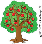 Apple tree clipart image clip art transparent Apple Tree Clip Art - Royalty Free - GoGraph clip art transparent