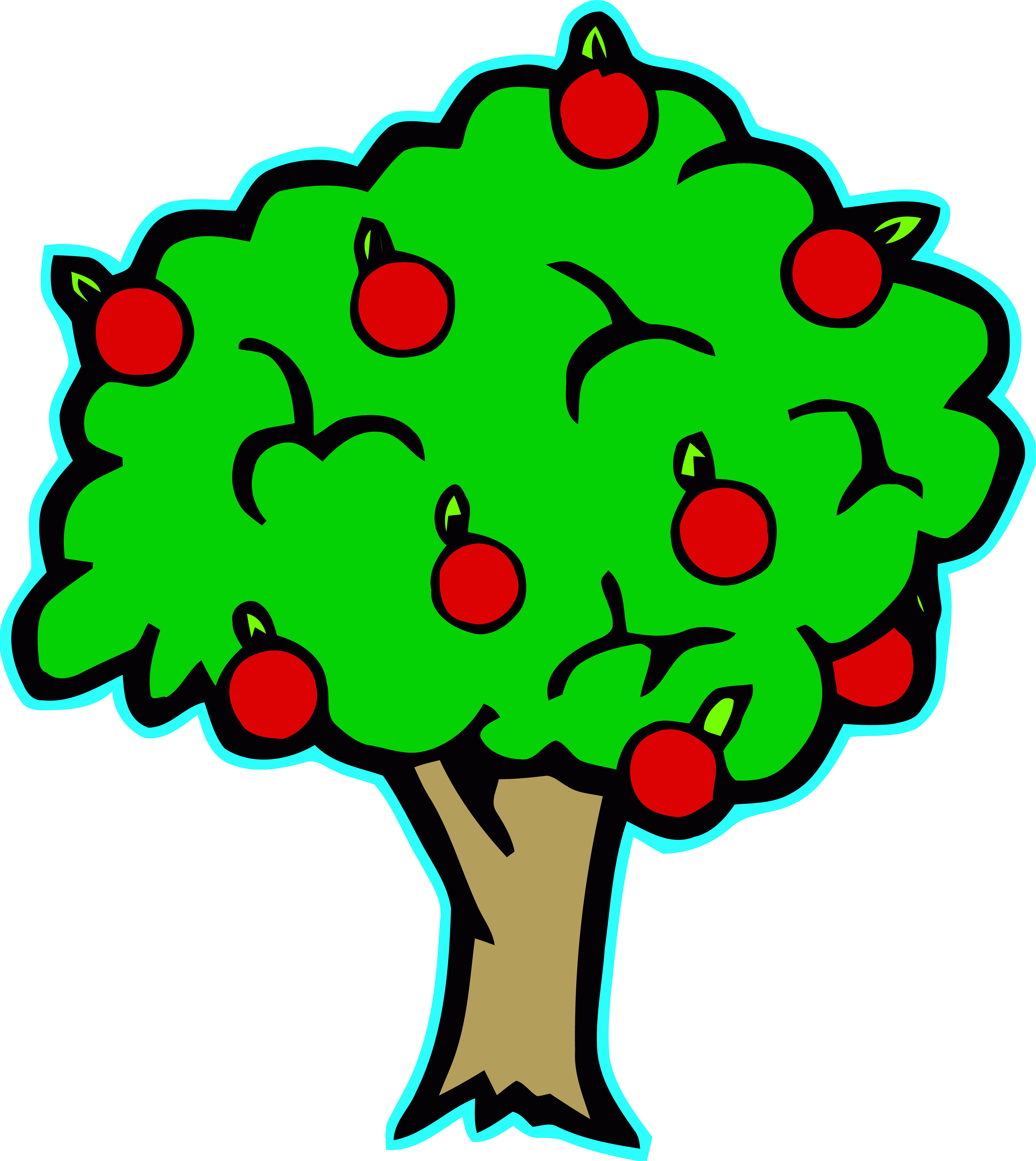 Apple tree clipart image svg library download Green Apple Tree Clipart Apple Cartoon Cute Png – Clipartly.com svg library download