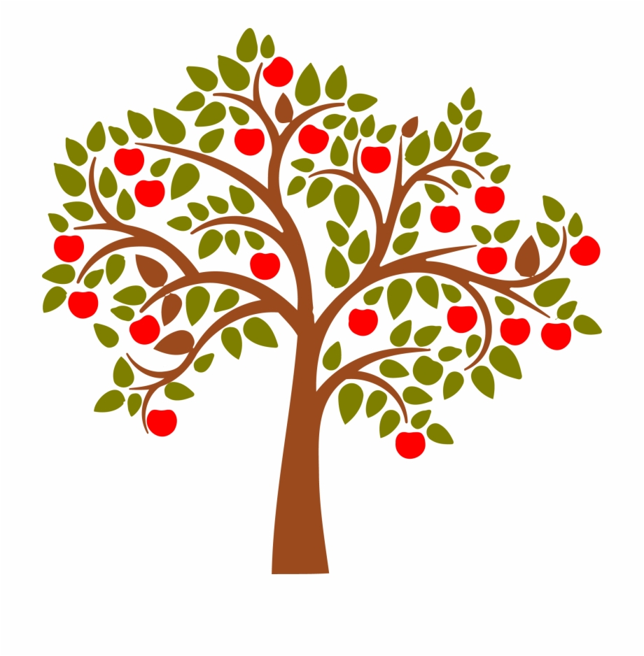 Apple tree clipart image png library download Wall Decal Apples Clipart Apple Tree - Clip Art Library png library download