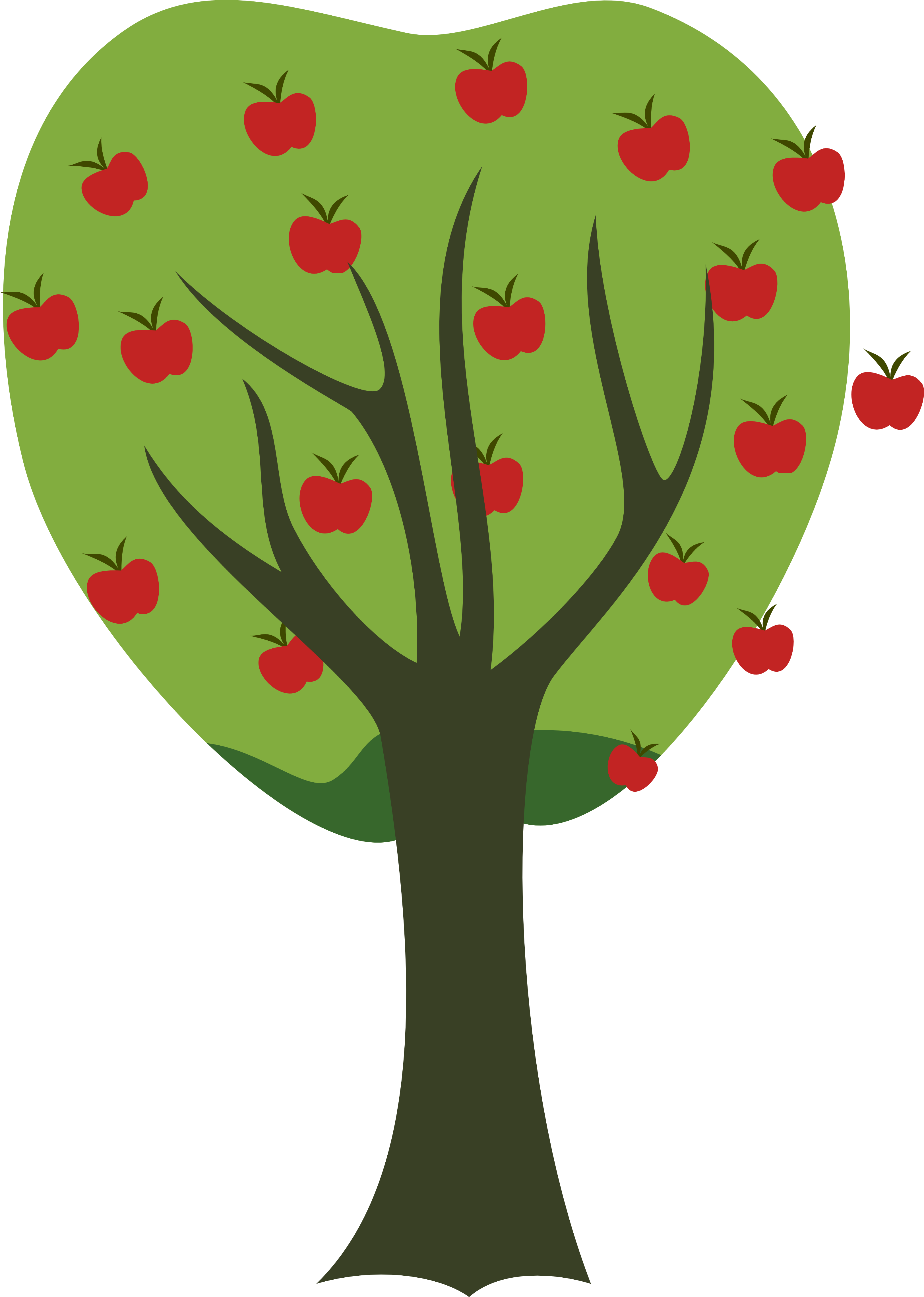 Apple tree clipart transparent background svg royalty free Apple Tree Clipart Transparent | Letters Format svg royalty free