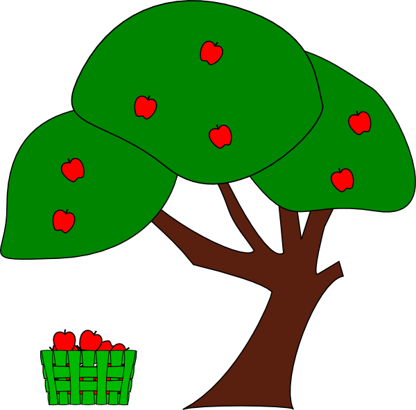 Fruit tree with roots clipart clipart royalty free download Apple Tree Clip Art at Clker.com - vector clip art online, royalty ... clipart royalty free download