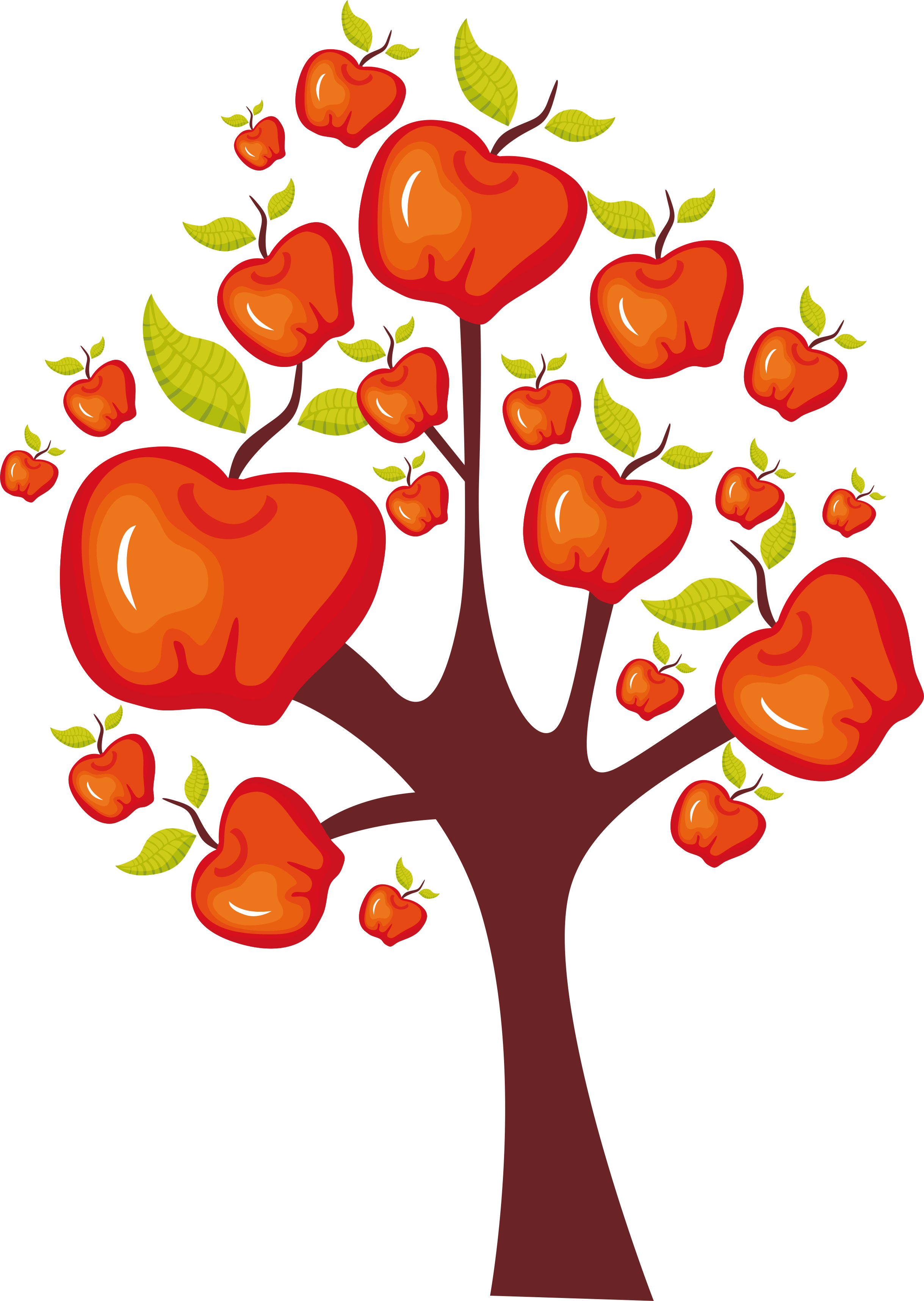 Fall apple tree clipart clip royalty free library Business intelligence Tree Clip art - Apple Tree 2438*3432 ... clip royalty free library