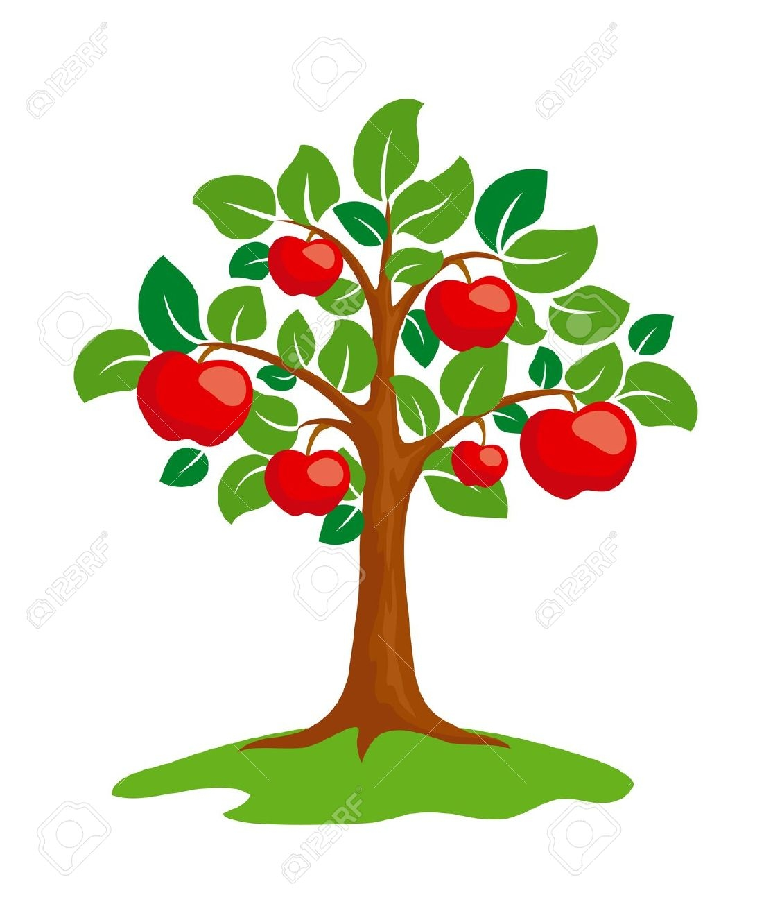 Apple tree cycle clipart freeuse Free clipart apple tree - ClipartFest freeuse