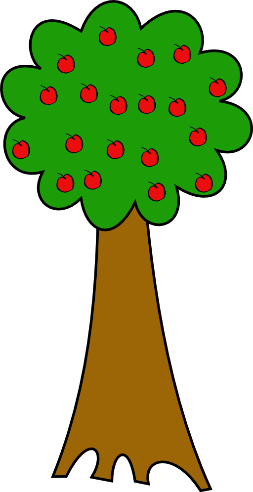 Apple tree drawing clipart clipart black and white Free Picture Of An Apple Tree, Download Free Clip Art, Free Clip Art ... clipart black and white