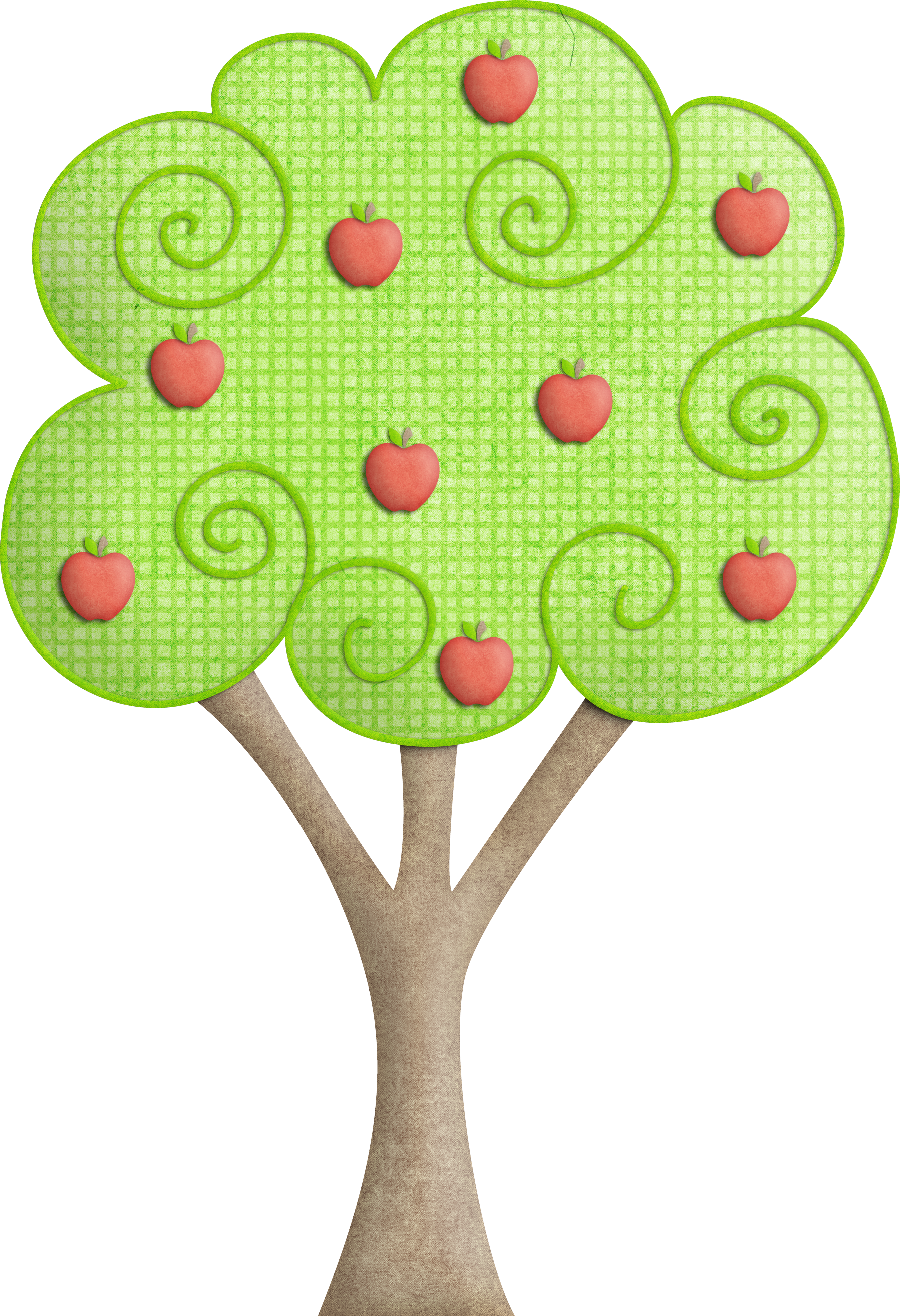 Apple tree drawing clipart clip freeuse download Tree Drawing Clip art - Apple Tree 1797*2628 transprent Png Free ... clip freeuse download