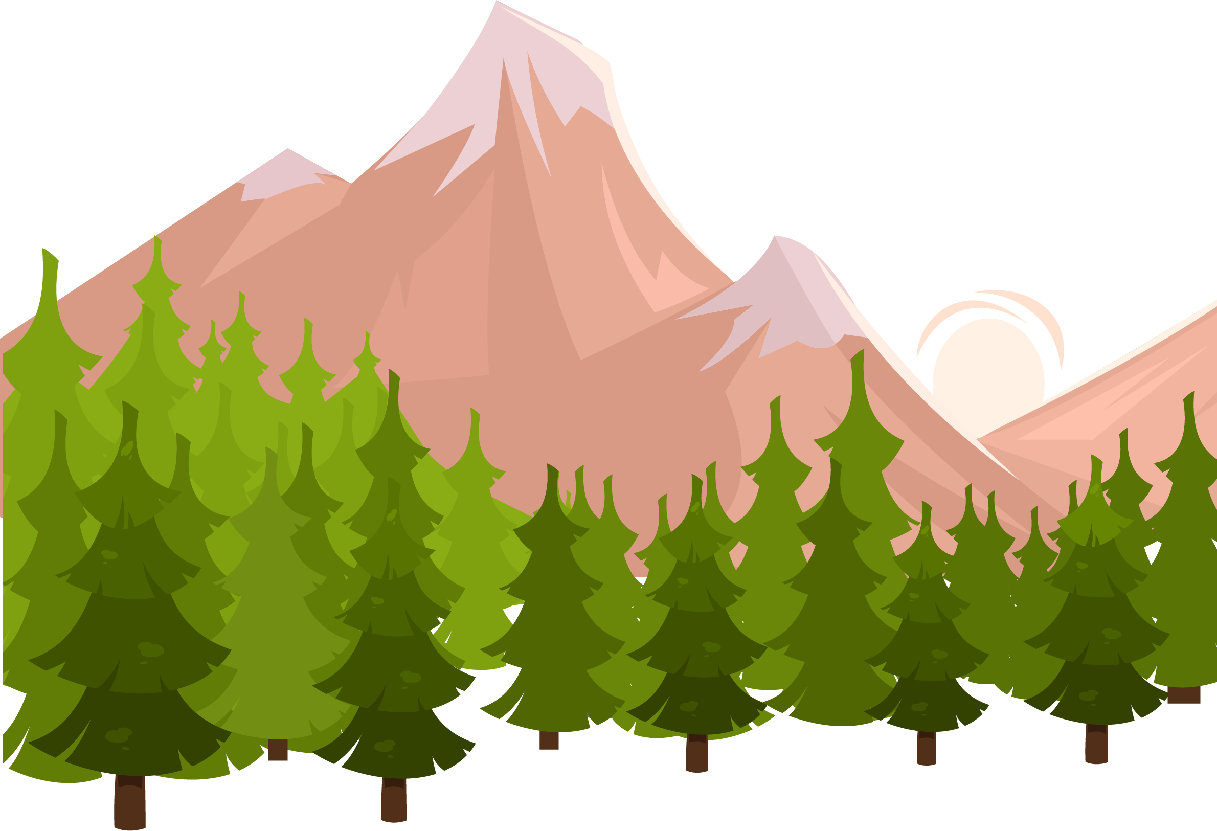 Apple tree mountain clipart vector black and white Ad blocking Icon - Forest snow mountain 2380*1625 transprent Png ... vector black and white