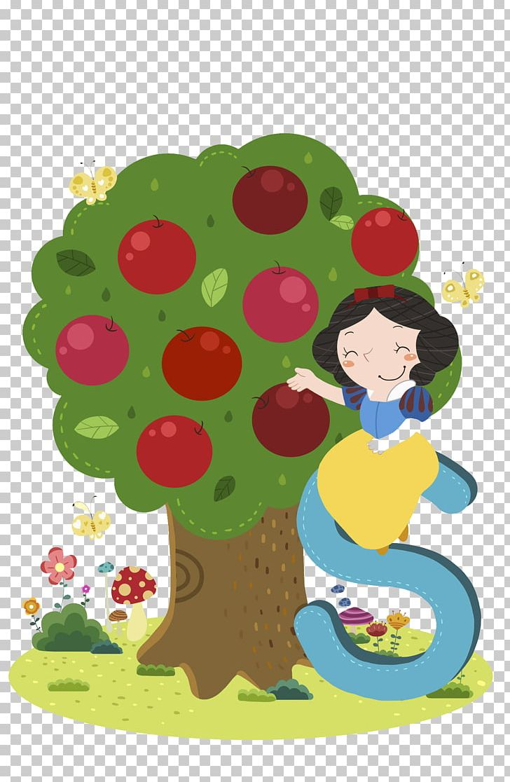Apple trees with snow clipart png freeuse Snow White Apple Cartoon Illustration PNG, Clipart, Art, Auglis ... png freeuse