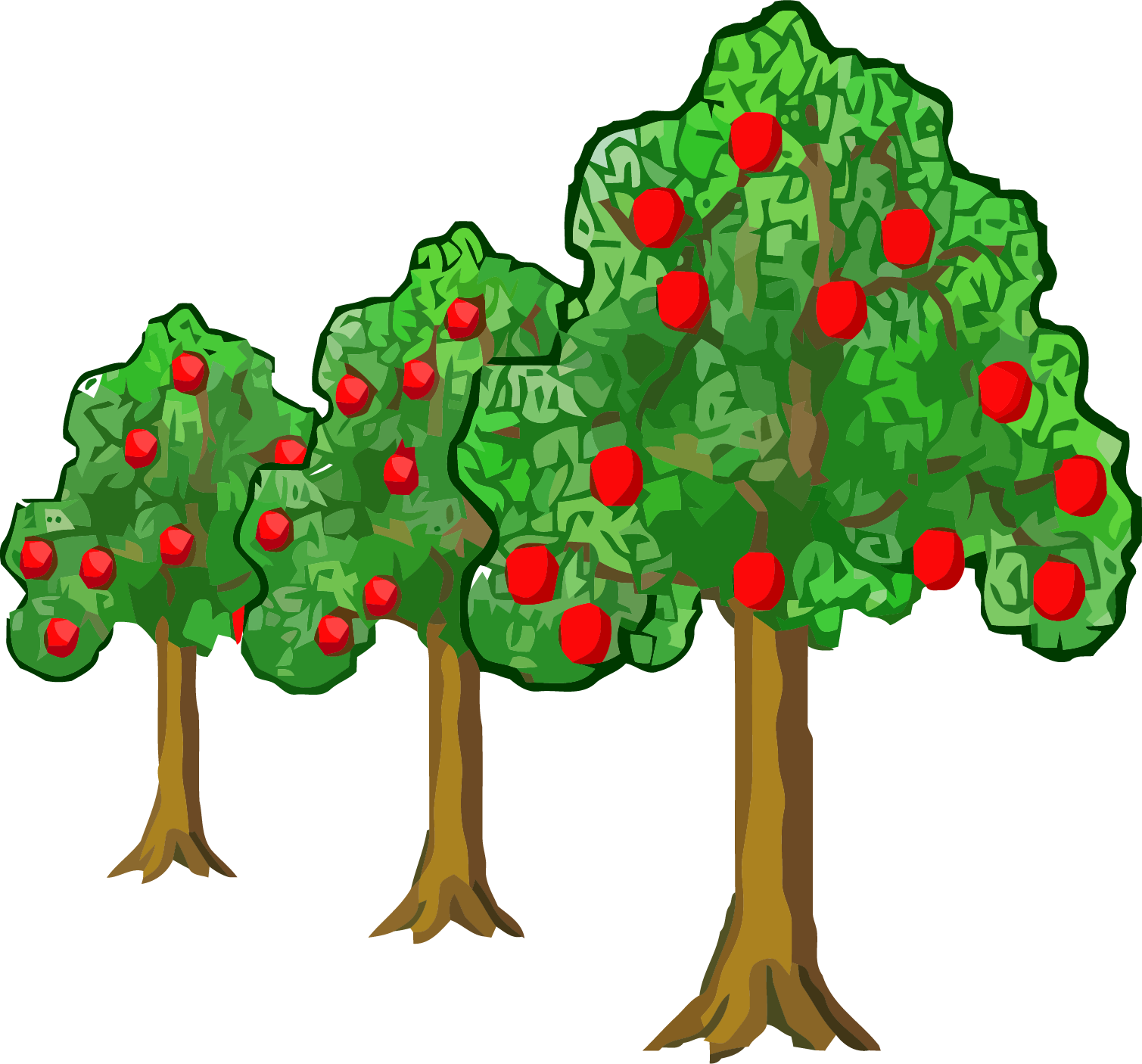 Apple trees with snow clipart black and white library Far Near Apple Tree Clipart Png – Clipartly.com black and white library