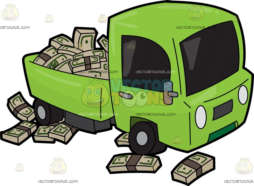 Apple truck clipart clip art freeuse A Cute Truck Filled With A Bunch Of Money : An apple green truck ... clip art freeuse