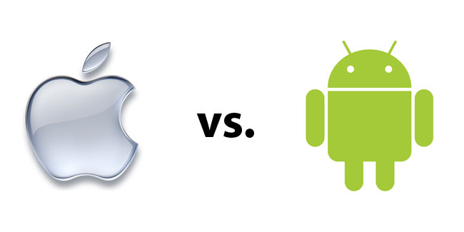 Apple vs android clipart svg free download Apple iOS vs. Android: the facts | BusinessJad svg free download
