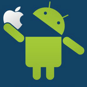 Apple vs android clipart svg transparent Apple vs. Android svg transparent