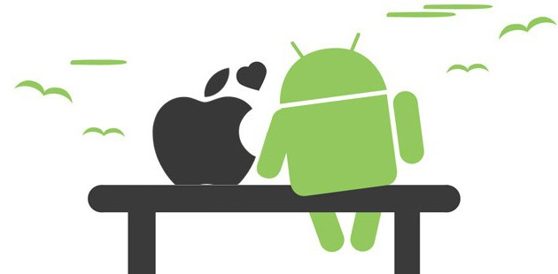 Apple vs android clipart graphic black and white library Android vs. Apple: Can't We All Just Get Along? graphic black and white library