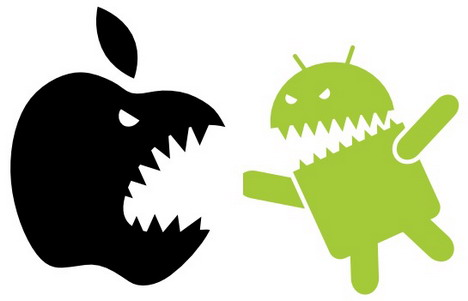 Apple vs android clipart svg black and white library 40 Apple Vs Google Android Funny Photo Collection - Quertime svg black and white library