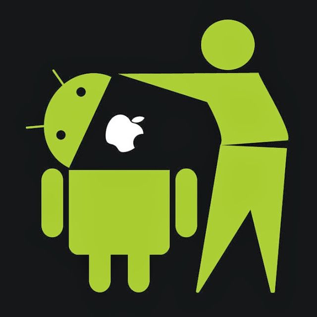 Apple vs android clipart banner freeuse stock Android Vs Apple Wallpaper Tease Your iOS Friend banner freeuse stock