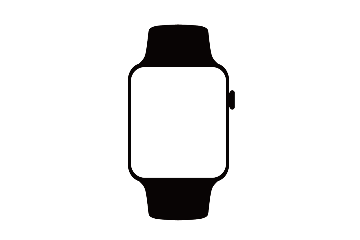 Apple watch clipart vector black and white stock Apple Watch Clipart | Free download best Apple Watch Clipart on ... vector black and white stock