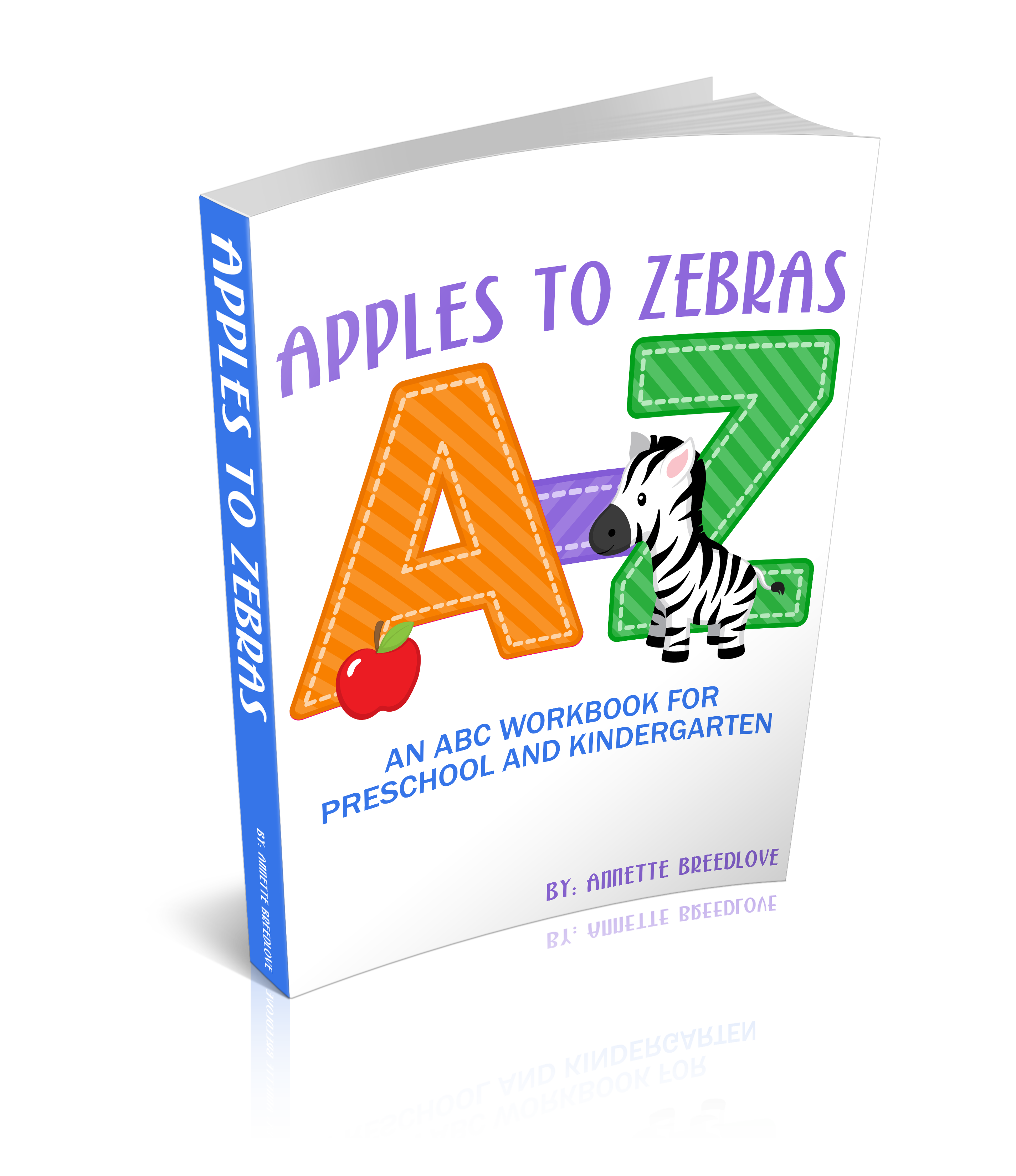 Apple with 123 and abc clipart free stock Apples to Zebras: An ABC Workbook for Preschool and Kindergarten free stock