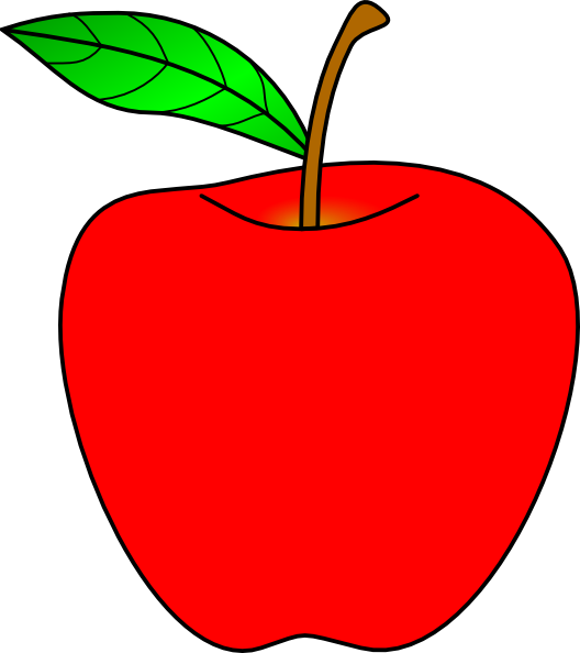 Apple with bite out of it clipart image Gunter, the greedy little snake - A story for big and small — Steemit image