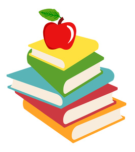 Apple with books clipart. Teacher panda free images