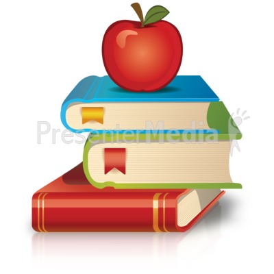 Apple with books clipart. And clipartfest presentation
