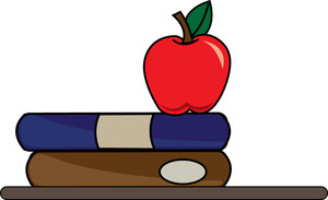 On clipartfest learning image. Apple with books clipart