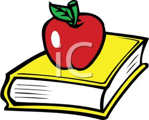 And clipartfest an sitting. Apple with books clipart