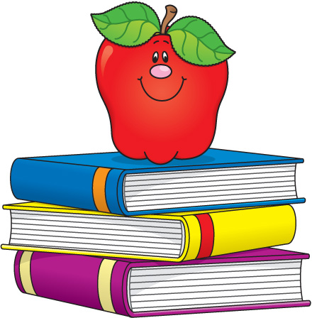Apple with books clipart. Apples and clipartfest for