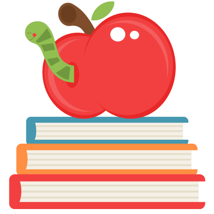 Apples and clipartfest on. Apple with books clipart