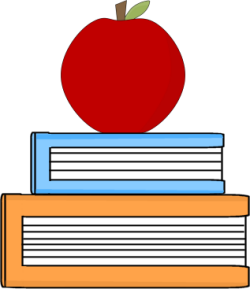 Teacher panda free images. Apple with books clipart