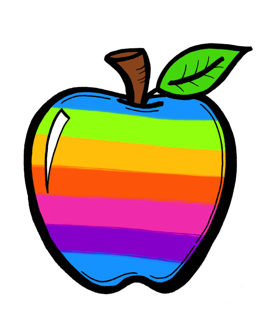 Patterned apple clipart clip art library stock The Creative Chalkboard: FREE Rainbow Apples and New Clipart Sets ... clip art library stock