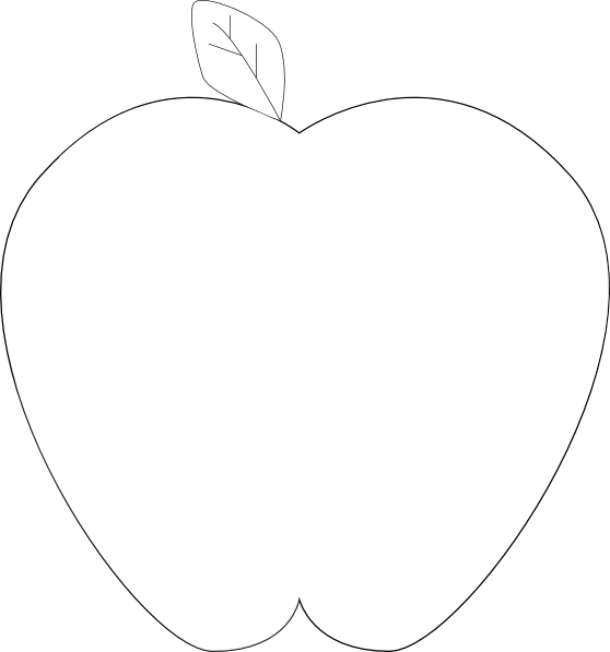 Black and white free clipart apple juice clip royalty free download White Black Apple By Gena Clip Art at Clker.com - vector clip art ... clip royalty free download