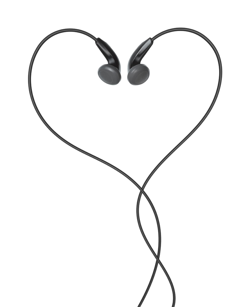 Heart black and white clipart image royalty free Headphones Apple earbuds Heart Clip art - Black Headphones 820*1000 ... image royalty free