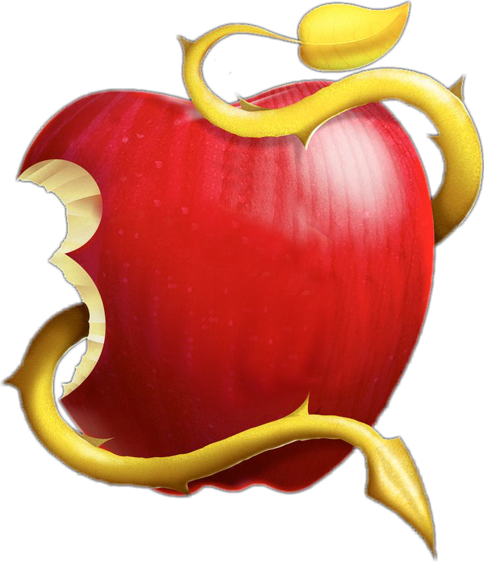 Apple with letter a clipart royalty free library Descendants apple Logos royalty free library
