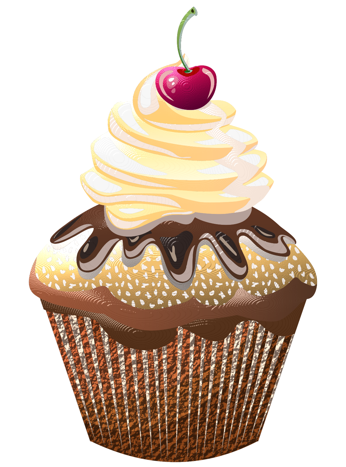 Flower cupcake clipart picture black and white stock ✿**✿*CUPCAKE*✿**✿* | Cupcakes | Pinterest | Clip art, Decoupage ... picture black and white stock