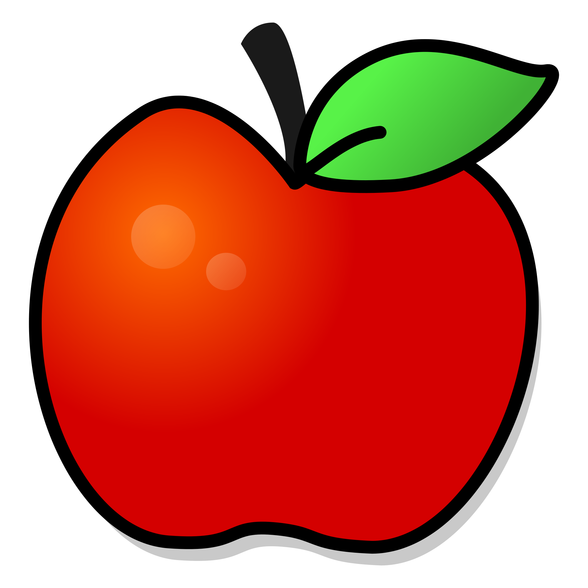 Free clipart of red apple png transparent stock File:Red apple with leaf.svg - Wikimedia Commons png transparent stock
