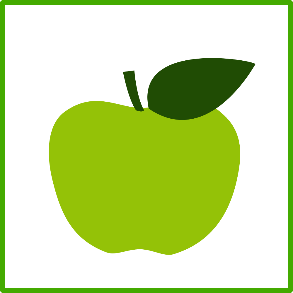 Apple with no leaf clipart picture black and white download OnlineLabels Clip Art - Eco Green Apple, Icon picture black and white download