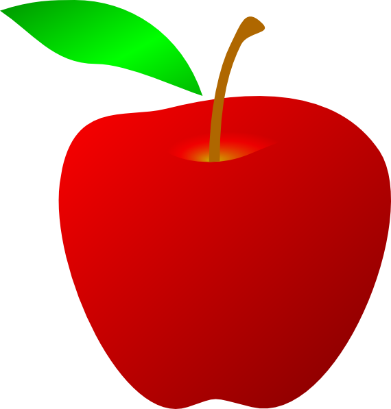 Red core apple clipart clipart library download Red Apple Clip Art at Clker.com - vector clip art online, royalty ... clipart library download