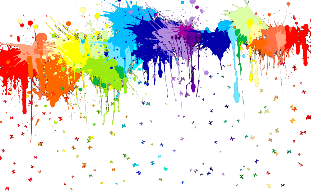 Apple with splatter paint clipart image stock rainbow paint spatters | Color! | Pinterest | Rainbow painting ... image stock