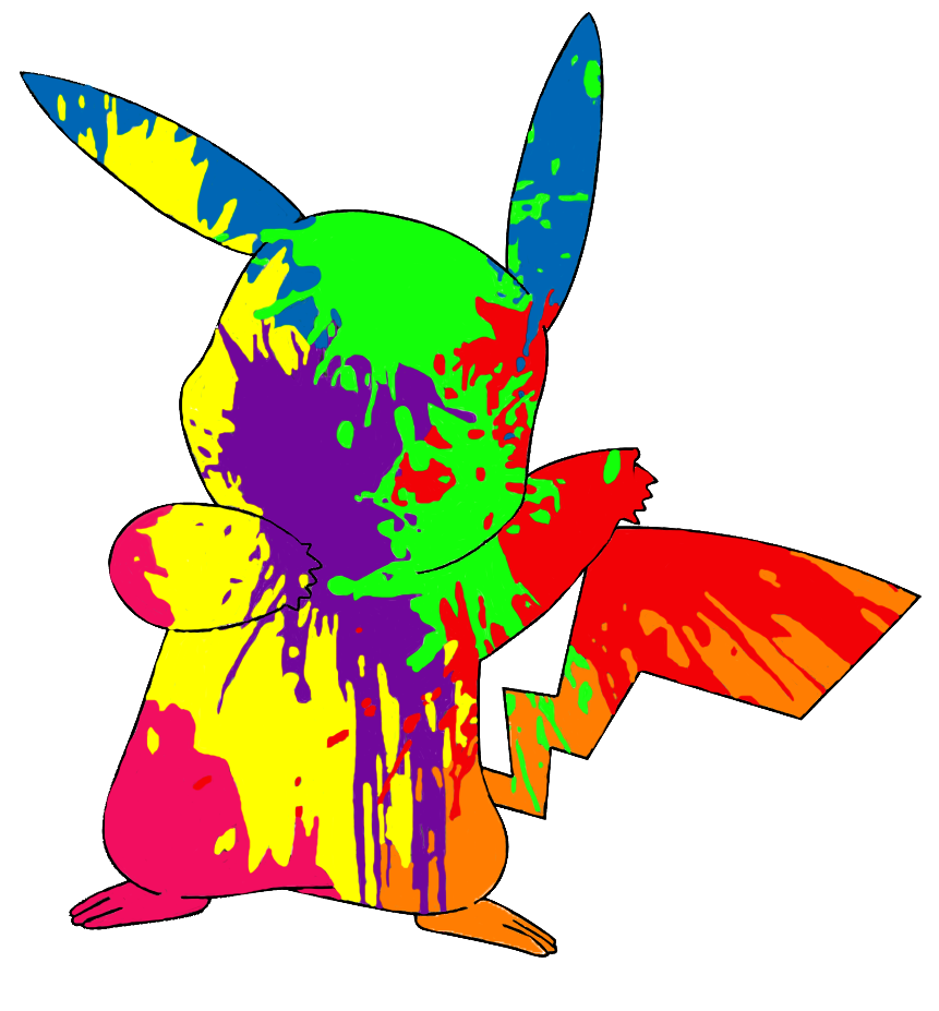 Apple with splatter paint clipart clip download Paint-Splatter Pikachu by BackApple on DeviantArt clip download